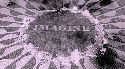 Imagine 2015 Negative Pink Poster by Rob Hans