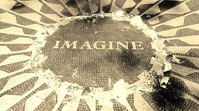Imagine 2015 Negative Sepia Poster by Rob Hans