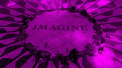 Imagine 2015 Purple Poster by Rob Hans