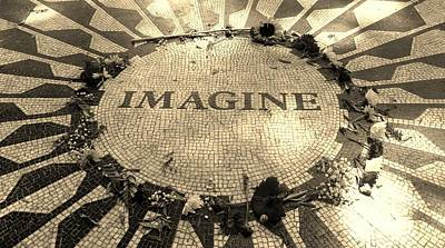 Imagine 2015 Sepia Poster by Rob Hans