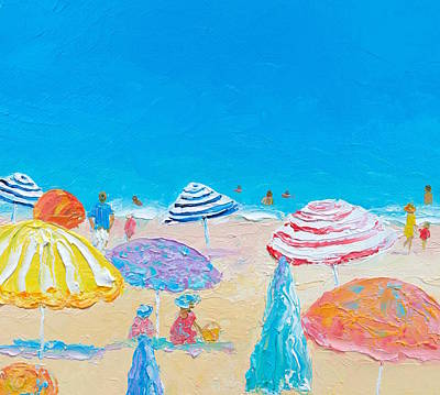 Impressionist Beach Painting Poster by Jan Matson