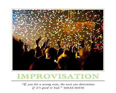 Improvisation Poster by David Simchock