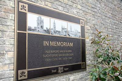 Poster featuring the photograph In Memoriam - Ypres by Travel Pics