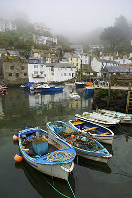 In Polperro, A Small Fishing Village Poster by Jim Richardson