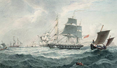 In The English Channel Poster by Joseph Cartwright
