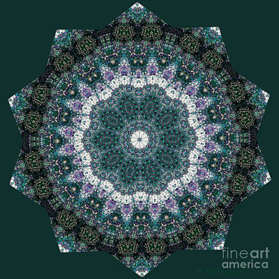 In The Moment Mandala Poster by Sandra Gallegos