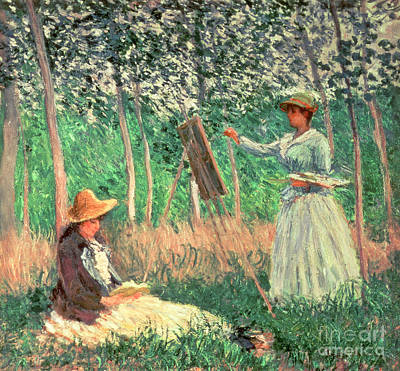 In The Woods At Giverny Poster by Claude Monet