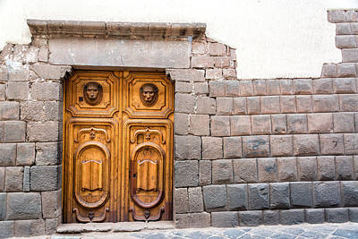 Inca Stonework And Wooden Door Poster by Jess Kraft