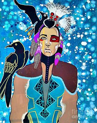 Indian Raven Poster by Amy Sorrell