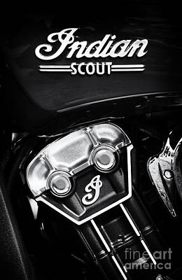 Indian Scout Abstract Poster by Tim Gainey