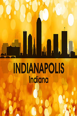 Indianapolis In 3 Vertical Poster by Angelina Vick