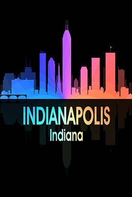 Indianapolis In 5 Vertical Poster by Angelina Vick