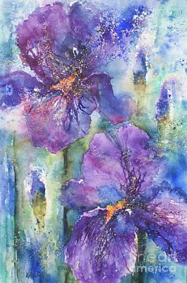 Indigo Iris Poster by Kate Bedell