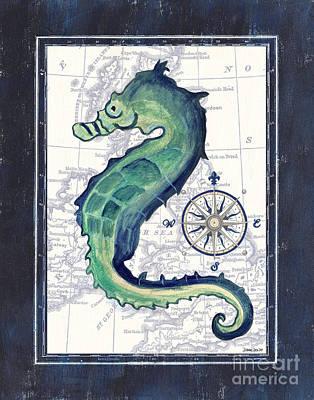 Indigo Maritime 2 Poster by Debbie DeWitt