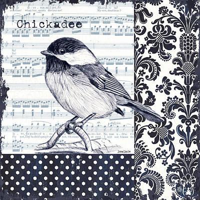 Indigo Vintage Songbird 2 Poster by Debbie DeWitt