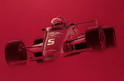 Indy Racing Poster by Jeff Mueller