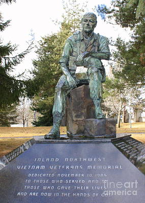 Inland Northwest Vietnam Veterans Memorial Poster by Carol Groenen
