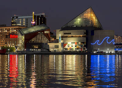 Inner Harbor Reflections Poster by Brian Wallace