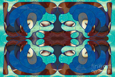 Inspired Blues Abstract Art By Omashte Poster by Omaste Witkowski