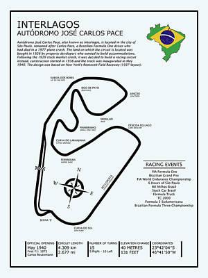 Interlagos Brazil Poster by Mark Rogan