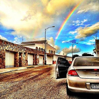 Poster featuring the photograph #iphone # Rainbow by Estefania Leon