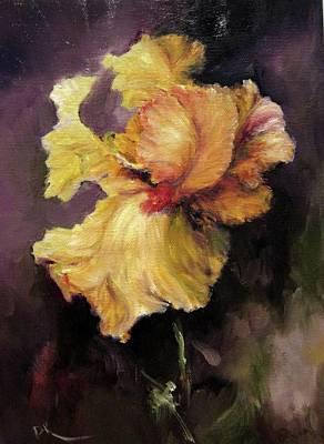 Iris Gold Poster by Diane Kraudelt