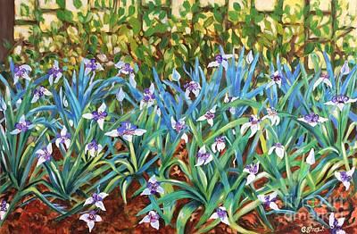 Irises Poster by Caroline Street