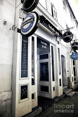 Irish Pub In Marseille Poster by John Rizzuto