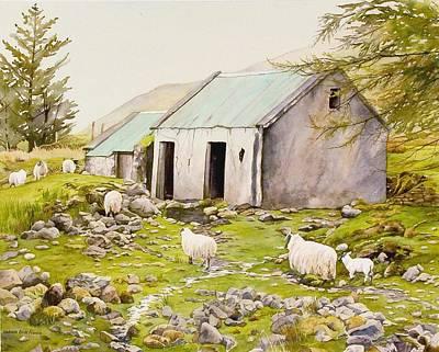Irish Sheep Farm Poster by Brenda Beck Fisher