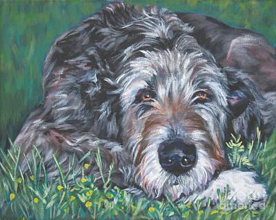 Irish Wolfhound Poster by Lee Ann Shepard