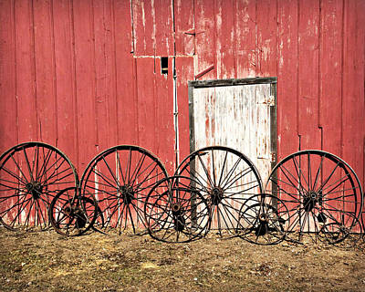 Iron Wheels Poster by Kathy Krause