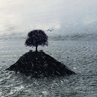 Island Rain Poster by Varinia Blyth