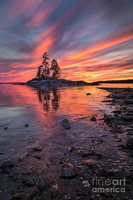 Island Sunset Poster by Benjamin Williamson