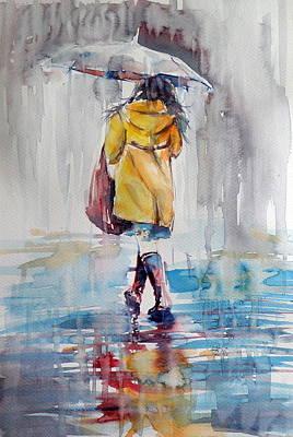 It Is Raining Poster by Kovacs Anna Brigitta