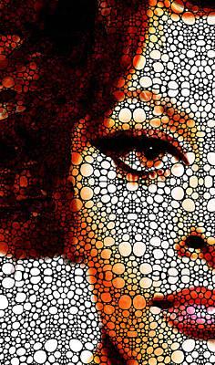 Italian Beauty Sophia Loren Tribute  Poster by Sharon Cummings