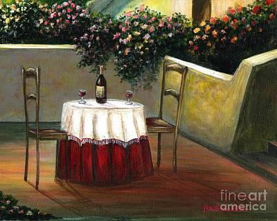 Italian Table Poster by Italian Art
