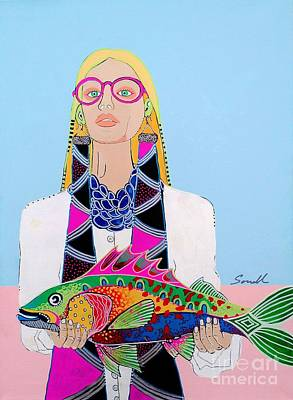 It's A Fish Poster by Amy Sorrell
