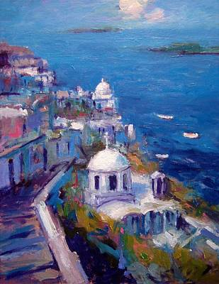 Its A Santorini Kind Of Mood Poster by R W Goetting
