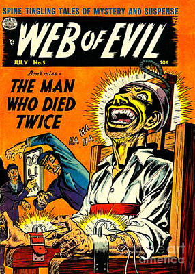 Jack Cole Web Of Evil 5 Poster by Halloween Dreams