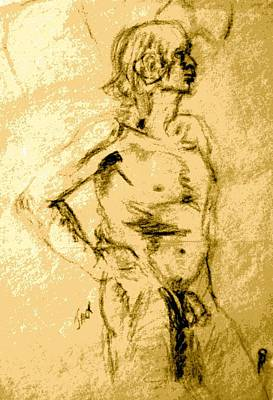 Jack Male Nude Model Poster by Sheri Parris