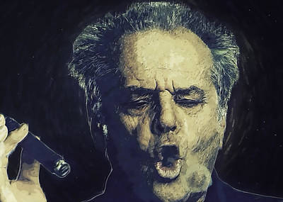 Jack Nicholson 2 Poster by Semih Yurdabak