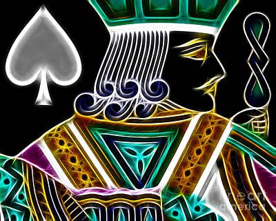 Jack Of Spades - V4 Poster by Wingsdomain Art and Photography