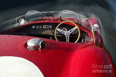 Jaguar C Type Poster by Reinhold Fine Art