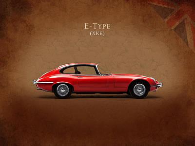 Jaguar E Type Poster by Mark Rogan