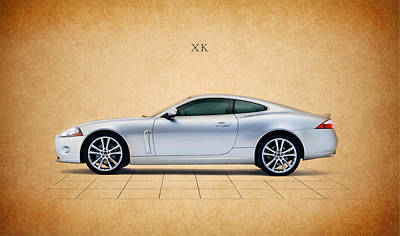 Jaguar Xk Poster by Mark Rogan