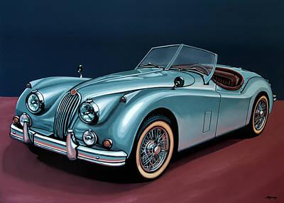 Jaguar Xk140 1954 Painting Poster by Paul Meijering