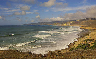 Jalama Beach From Blufftop Poster by Ron Regalado