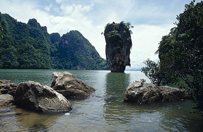 James Bond Island, A Limestone Poster by Jason Edwards