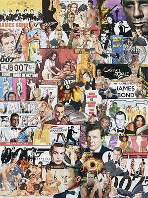 James Bond Poster by Marijo Communier