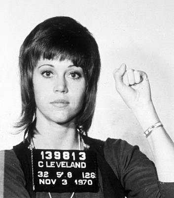 Jane Fonda Mug Shot Vertical Poster by Tony Rubino
